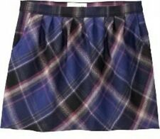NWT Ladies PLAID SKIRT Old Navy Tartan Mini SIZE 4,6,10 Lined w/Pockets PURPLE