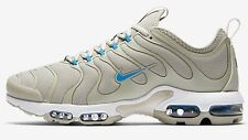 Nike AIR MAX PLUS TN ULTRA MEN'S SHOES, WHITE/PALE GREY/BLUE- Size US 8,8.5 Or 9