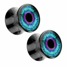 Bright Eye Acrylic Picture Plugs Pair - Choose Size