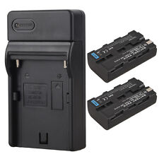 2Pcs Rechargeable Li-ion Battery+ USB Charger for Camera Sony NP-F550 NP-F570
