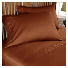 US Choice Bedding Items-Duvet/Fitted/Flat 1000TC Egyptian Cotton Brick Red