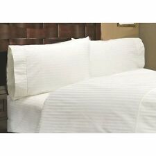 US Choice Bedding Items-Duvet/Fitted/Flat 1000TC Egyptian Cotton White Striped