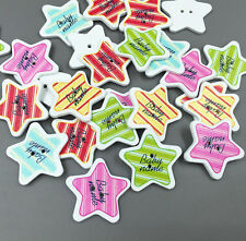 Mixed Stripe Star Sewing Wooden Buttons scrapbooking Handicrafts 30mm