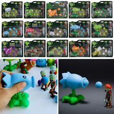 Plants Vs Zombies Action Figures Kids Shooting Figurines Set Play Game Toy Gifts