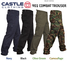 Blue Castle Mens Cargo Combat Work Workwear Trousers Military Army Pants Ladies