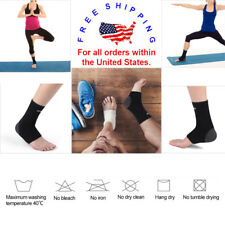 Sports Foot Ankle Compression Support Brace Wrap Ankle Pain Relief Black M/L
