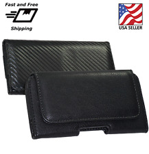 For Samsung Galaxy S7 w/ Slim Case PU Leather Pouch Holster Belt Clip