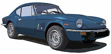Triumph GT6 sports car canvas art print by Richard Browne GT-6