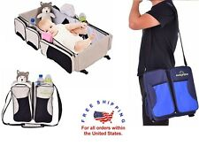 Travel Diaper Bag Changing Pad Bassinet Kit Portable Waterproof Folding Baby Bed