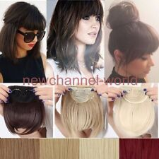 Real Natural Hair Extensions Clip In Front Bangs Fringe as human Straight Bang