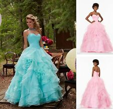 Quinceanera Dress New Beads Formal Prom Party Pageant Cocktail Ball Bridal Gown