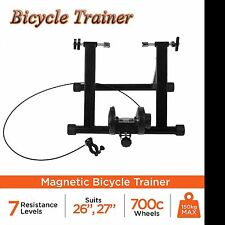 New Foldable Indoor Bicycle Bike Turbo Trainer Fan Fly Wind Wheel Quiet Black BE