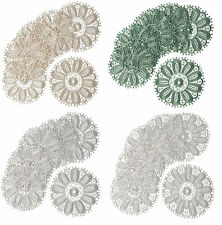 Floral Lace Round Doilies Pack of 6 Traditional Doyleys Vintage Home Table Mat