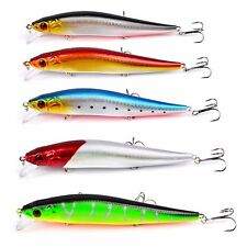1Pcs Minnow Fishing Lures Bass Crankbait 4#Hooks Tackle Crank Baits 14cm/23g