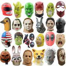 Creepy Halloween Latex Mask Full Head Cosplay Horror Masquerade Party Adult Mask