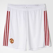 MANCHESTER ADIDAS CLIMACOOL FCF Soccer Football Shorts White Authentic - AC1420