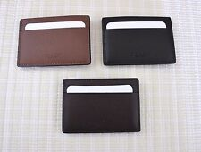 NWT COACH Leather Money Clip Card Case F75459 Choose Mahogany/Black/Dark Saddle
