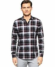 Calvin Klein Men's Long Sleeve Plaid Shirt (Many SZ/ Color) - Choose SZ/Color