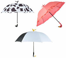 Animal Umbrella Novelty Automatic Open Freestanding Brolly Cow Flamingo Penguin