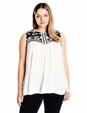 Lucky Brand Women's Plus-SZ Shell W/ Embroidery In White - Choose SZ/Color