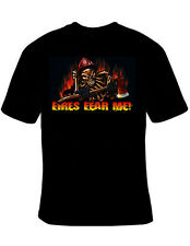 Fires Fear Me Firefighter Skull Fireman T-Shirt Black S-5XL NEW Short Sleeve