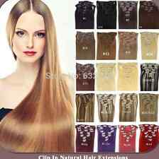 """2017 15""""18""""20""""22""""24""""26""""28""""7PCS Clip In Remy Human Hair Extensions 70g/80g/120g"""