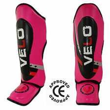 VELO Kids Junior Muay Thai mma Shin Pads instep Protective leg foot Guards cool