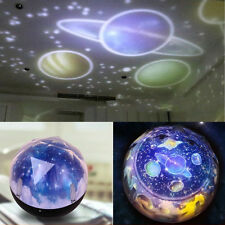 Projector Night Light LED Star Master Sky Lamp Romantic Cosmos Rotating Kid Gift