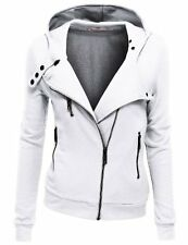 Doublju Women Slim Fit Fleece Zip-up Hoodie Jacket W/ Zipper Point