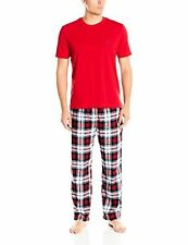 Nautica Men's Plaid Flannel Pant and Red Short Sleeve Tee Set - Choose SZ/Color