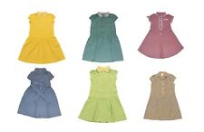 Girls Gingham Blue,Yellow Green, Lilac School Summer dresses 3-16 Years