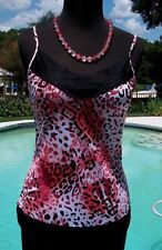 Cache $$$ ANIMAL LACE ADJUSTABLE STRAP Cami Top NWT XS/S/M STRETCH