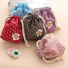 Lovely Flower Coin Change Purse Wallet Cosmetic Makeup Bag Jewelry Container