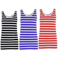 Womens Red And White Striped Vest Top Ladies Stripy Tops Fancy Dress Book Week