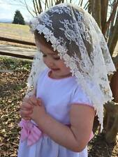 White or Ivory Veils and mantillas church chapel catholic Mass - small