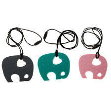 Silicone Elephant Baby Nursing Teether Teething Chewable Necklace Pendant