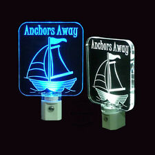 "Personalized Sailboat Night Light, LED, 3/8"" acrylic, Nursery, Nautical"