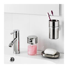 IKEA KALKGRUND Knob Hanger Soap Dish Toothbrush Hold Chrome-Plated Free Shipping