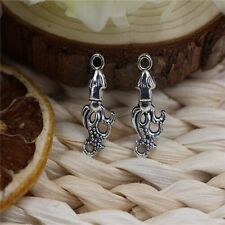 25/100pcs Tibetan Silver  Lovely Octopus  Jewelry Charms Pendant 24x9mm A1133