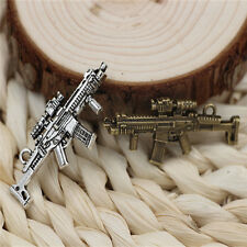 5/15/50pcs many Tibetan beautiful silver Gun jewelry Charms Pendant 45x19mm