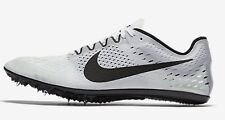 Nike ZOOM VICTORY-3 MEN'S RACING SPIKE SHOES,WHITE/BLACK- Size US 8,8.5,9 Or 9.5