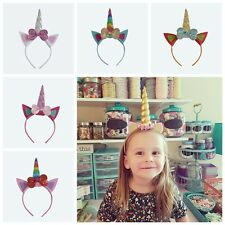Unicorn Butterfly Girls Hair Hoop Bow Party Hair Clips Hair Accessories Baby