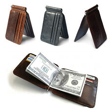 Fashion Men's Leather Bifold Slim Wallet ID Credit Card Money Clip Holder Purse