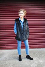 Ladies Dolce Diva Luxury Faux Fur Black Blush Grey Ombre Gilet