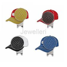 Mini Golf Cap Metal Magnetic Golf Ball Marker with Hat Clip Golf Accessory