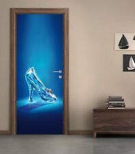 Cinderella Glass Shoe DOOR WRAP Decal Sticker Wall Personalized NAME Disney D28