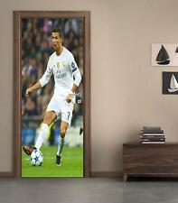 Cristiano Ronaldo DOOR WRAP Decal Sticker Personalized ANY NAME Real Madrid D35