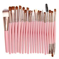 Pink Makeup 20 Brushes Set Eye Shadow Kit Foundation Powder Lips Eyes Shiny Glit