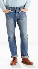 Levis 501 Mens Jeans Original Fit Straight leg Button Fly Blue MSRP $59.50 NWT