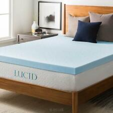 LUCID 3 inch Gel Memory Foam Mattress Topper Bed Cushion Pad Hypoallergenic new